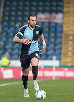Paul Hayes of Wycombe Wanderers in action during the Sky Bet League 2 match between Wycombe Wanderers and Stevenage at Adams Park, High Wycombe, England on 12 March 2016. Photo by Andy Rowland/PRiME Media Images.