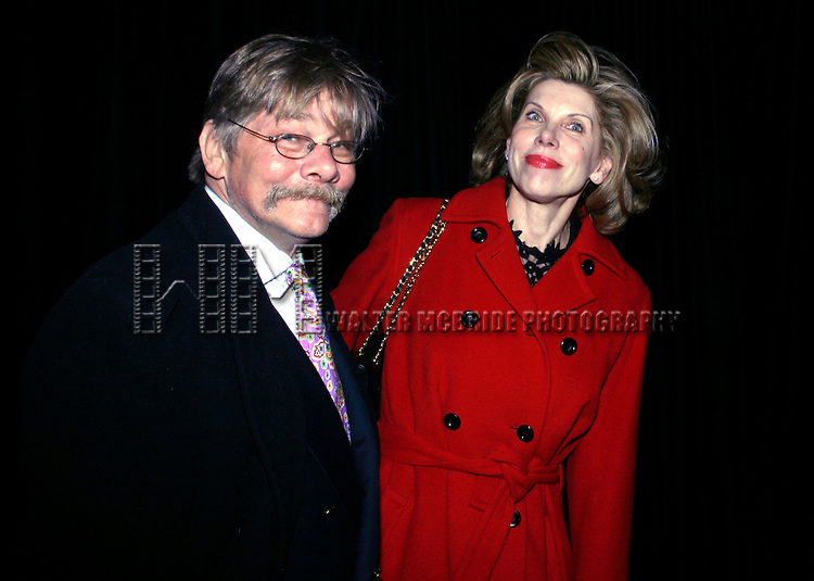 Christine Baranski &amp; Matthew Cowles<br /> attending the Opening Night performance for Vanessa Redgrave in THE YEAR OF MAGICAL THINKING at the Booth Theatre in New York City.<br /> March 29, 2007