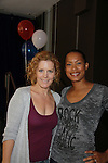 Guiding Light Liz Keifer (OLTL and GH) hosts and poses with Kearran Giovanni the Daytime Stars and Strikes Charity Event to benefit the American Cancer Society at the Bowlmore Lanes, New York City, New York featuring actors from One Life To Live and Guiding Light. (Photo by Sue Coflin/Max Photos)