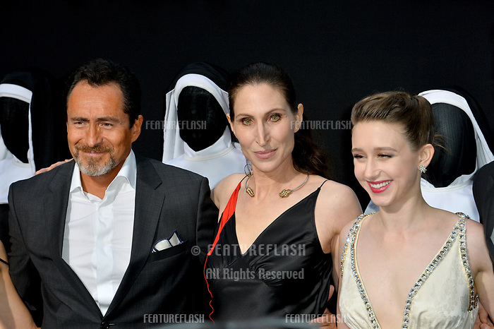 "LOS ANGELES, CA. September 04, 2018: Demian Bichir, Bonnie Aarons & Taissa Farmiga at the world premiere of ""The Nun"" at the TCL Chinese Theatre, Hollywood."