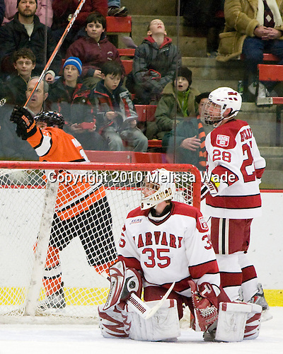- The Princeton University Tigers defeated the Harvard University Crimson 2-1 on Friday, January 29, 2010, at Bright Hockey Center in Cambridge, Massachusetts.