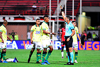 CÚCUTA - COLOMBIA, 01-03-2020:Carlos Ortega Jaimes referee central. Cúcuta Deportivo y Atlético Bucaramanga , durante partido entre Cúcuta Deportivo y Atlético Bucaramanga, de la fecha 7 por la Liga BetPlay DIMAYOR I 2020, jugado en el estadio General Santander de la ciudad de Cúcuta. / Central referee Carlos Ortega Jaimes.Cucuta Deportivo and Atletico Bucaramangaduring a match between Cucuta Deportivo and Atletico Bucaramanga, of the 7th date for the BetPlay DIMAYOR I Leguaje 2020 at the General Santander Stadium in Cucuta city. / Photo: VizzorImage / Juan Pablo Bayona / Cont.