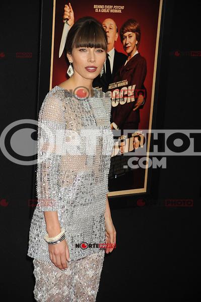 NEW YORK, NY - NOVEMBER 18: Jessica Biel at the 'Hitchcock' New York Premiere at Ziegfeld Theatre on November 18, 2012 in New York City. Credit: mpi01/MediaPunch inc. NortePhoto