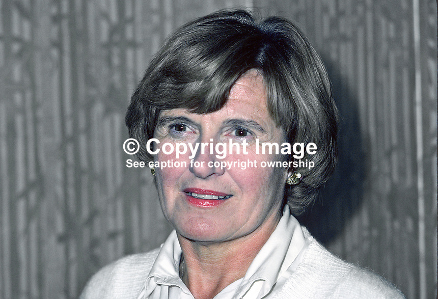 Mrs Hazel Bradford, prominent member, Ulster Unionist Party, N Ireland, UK, wife, Roy Bradford, sometime Stormont Parliament MP &amp; Minister, 198010000333a.<br />
