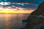 Sunset in Cinque Terre in Italy