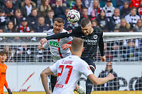 Kopfball Ante Rebic (Eintracht Frankfurt) gegen Daniel Baier (FC Augsburg) - 14.04.2019: Eintracht Frankfurt vs. FC Augsburg, Commerzbank Arena, 29. Spieltag DISCLAIMER: DFL regulations prohibit any use of photographs as image sequences and/or quasi-video.