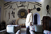 Raja of Rampura, Raja Keshwendra Singh poses for a portrait in his ancestral house, the Rampura Fort in Rampura, in Bundelkhand area of Uttar Pradesh, India. Feudal system still exists here in Bundelkhand and Raja Keshwendra Singh enjoys the stature of a King in this modern day and age.