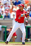 18 June 2006: Jose Vidro, second baseman for the Washington Nationals, in action against the New York Yankees at RFK Stadium, in Washington, DC. The Nationals defeated the Yankees 3-2 in the third game of the interleague series...Mandatory Photo Credit: Ed Wolfstein Photo...