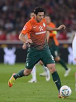 FUSSBALL  1. BUNDESLIGA  SAISON 2011/2012  31. SPIELTAG 13.04.2012 VfB Stuttgart - SV Werder Bremen Claudio Pizarro (SV Werder Bremen) am Ball