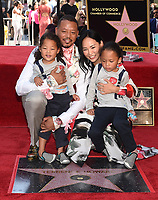 HOLLYWOOD - SEPTEMBER 24: Terrence Howard with wife, Mira Pak Howard and their sons, Hirin and Hero attend the Hollywood Walk of Fame ceremony for Terrence Howard on September 24, 2019 in Hollywood, California. (Photo by Frank Micelotta/Fox/PictureGroup)