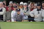 23rd September, 2006. .European Ryder Cup Team player Luke Donald checks his line on the 2nd green during the afternoon fourball session of the second day of the 2006 Ryder Cup at the K Club in Straffan, County Kildare in the Republic of Ireland..Photo: Eoin Clarke/ Newsfile.