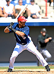 18 March 2007: Washington Nationals outfielder Alex Escobar in action against the Florida Marlins at Space Coast Stadium in Viera, Florida...Mandatory Photo Credit: Ed Wolfstein Photo