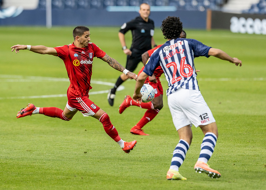 Fulham's Anthony Knockaert shoots at goal <br /> <br /> Photographer Andrew Kearns/CameraSport<br /> <br /> The EFL Sky Bet Championship - West Bromwich Albion v Fulham - Tuesday July 14th 2020 - The Hawthorns - West Bromwich <br /> <br /> World Copyright © 2020 CameraSport. All rights reserved. 43 Linden Ave. Countesthorpe. Leicester. England. LE8 5PG - Tel: +44 (0) 116 277 4147 - admin@camerasport.com - www.camerasport.com