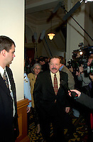 FILE PHOTO Jan 2001 Quebec, Canada<br /> <br /> Minister jacques Brassard at the National Assembly, Jan 2002<br /> <br /> <br /> <br /> <br /> Mandatory Credit: Photo by Pierre Roussel- Images Distribution. (©) Copyright 2001 by Pierre Roussel <br /> <br /> NOTE : <br />  Nikon D-1 jpeg opened with Qimage icc profile, saved in Adobe 1998 RGB<br /> .Uncompressed  Original  size  file availble on request.<br /> <br /> Montreal (Qc) CANADA - File Photo -