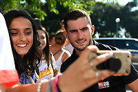Lewis Cook of AFC Bournemouth has a selfie taken with a fan during AFC Bournemouth vs Real Betis, Friendly Match Football at the Vitality Stadium on 3rd August 2018