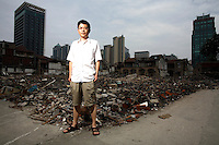 "Shu Haolun,  film maker who made ""Nostalgia"", a film about the disappearance of his old Shanghai neighborhood."