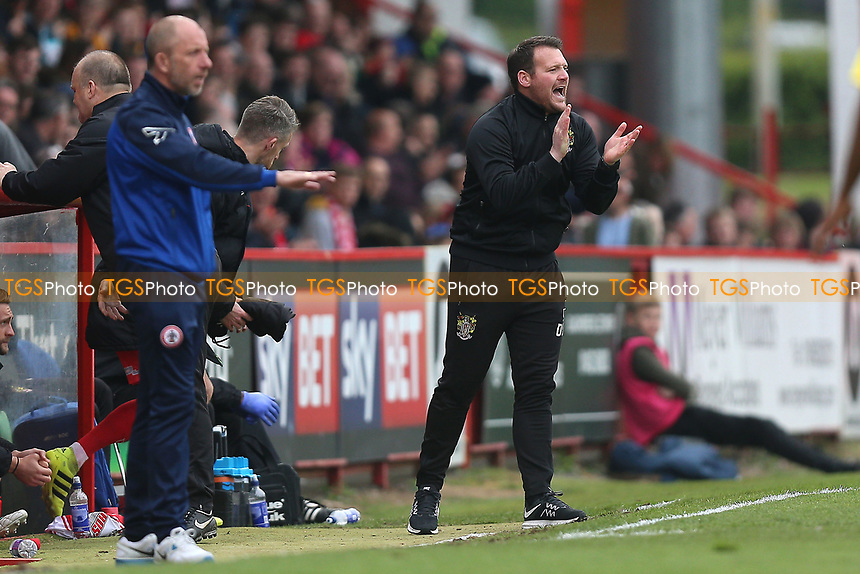 Stevenage manager Darren Sarll during Stevenage vs Accrington Stanley, Sky Bet EFL League 2 Football at the Lamex Stadium on 6th May 2017