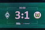 11.02.2018, Weserstadion, Bremen, GER, 1.FBL, SV Werder Bremen vs VfL Wolfsburg<br /> <br /> im Bild<br /> Anzeigetefal / Endstand, Feature<br /> <br /> Foto &copy; nordphoto / Ewert