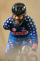 Picture by Alex Whitehead/SWpix.com - 05/03/2017 - Cycling - UCI Para-cycling Track World Championships - Velo Sports Center, Los Angeles, USA - <br /> USA's Joseph BERENYI wins the Men's Scratch race.