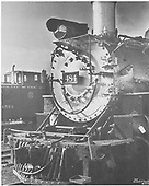 Smokebox portion of C&amp;TS #484.  Caboose #0503 is in the background.<br /> C&amp;TS    Taken by Smith, Russell F. - ca. 1974