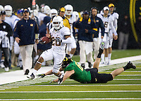October 6th, 2011:  Isi Sofele of California runs for a big gain during a game against Oregon Ducks at Autzen Stadium in Eugene, Oregon - Oregon defeated Cal 43 - 15