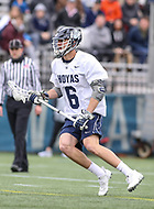 Washington, DC - April 7, 2018: Georgetown Hoyas Lucas Wittenberg (6) in action during game between Providence and Georgetown at  Cooper Field in Washington, DC.   (Photo by Elliott Brown/Media Images International)