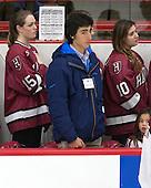Mary Parker (Harvard - 15), Kamron Landry, Dani Krzyszczyk (Harvard - 10) - The Harvard University Crimson tied the visiting Dartmouth College Big Green 3-3 in both team's first game of the season on Saturday, November 1, 2014, at Bright-Landry Hockey Center in Cambridge, Massachusets.
