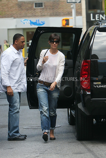 WWW.ACEPIXS.COM . . . . .  ....August 5 2008, New York City....Actress Katie Holmes was seen arricving at play rehersals in Greenwich Village on August 5 2008 in New York City....Please byline: STAN ROSE- ACE PICTURES.... *** ***..Ace Pictures, Inc:  ..tel: (646) 769 0430..e-mail: info@acepixs.com..web: http://www.acepixs.com