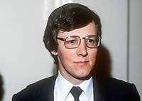 Peter Robinson, DUP, Democratic Unionist Party, MP, UK Parliament, 1982, 198200000161a<br /><br />Copyright Image from Victor Patterson, 54 Dorchester Park, <br />Belfast, UK, BT9 6RJ<br /><br />t1: +44 28 9066 1296 (from Rep of Ireland 048 9066 1296)<br />t2: +44 28 9002 2446 (from Rep of Ireland 048 9002 2446)<br />m: +44 7802 353836<br /><br />victorpatterson@me.com<br />www.victorpatterson.com<br /><br />Please see my Terms and Conditions of Use at VICTORPATTERSON.COM. It is IMPORTANT that you familiarise yourself with them.<br /><br />Images used on the Internet must be visibly watermarked i.e. &copy;VICTORPATTERSON.COM within the body of the image and copyright metadata must not be deleted. Images used on the Internet have a size restriction of 4kbs and are chargeable at the then current NUJ rates.<br /><br />This image is only available for the use of the download recipient i.e. television station, newspaper, magazine, book publisher, etc, and must not be passed on to any third party. It is also downloaded on condition that each and every usage is notified within 7 days to victorpatterson@me.com<br /><br />The right of Victor Patterson to be identified as the author is asserted in accordance with The Copyright Designs And Patents Act (1988).