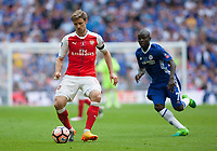 Nacho Monreal  of Arsenal in action  during the FA Cup Final match between Arsenal v Chelsea, Wembley stadium, London on 27th May 2017