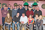 Tim Horgan Tullig, Castleisland seated centre who celebrated his retirement from Ahern's Garage Castleisland after 40 years of service with his family and colleagues in the Half Barrell Castleisland on Friday night