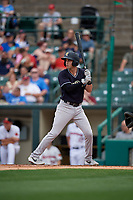 Scranton/Wilkes-Barre RailRiders Tyler Wade (9) at bat during an International League game against the Rochester Red Wings on June 24, 2019 at Frontier Field in Rochester, New York.  Rochester defeated Scranton 8-6.  (Mike Janes/Four Seam Images)