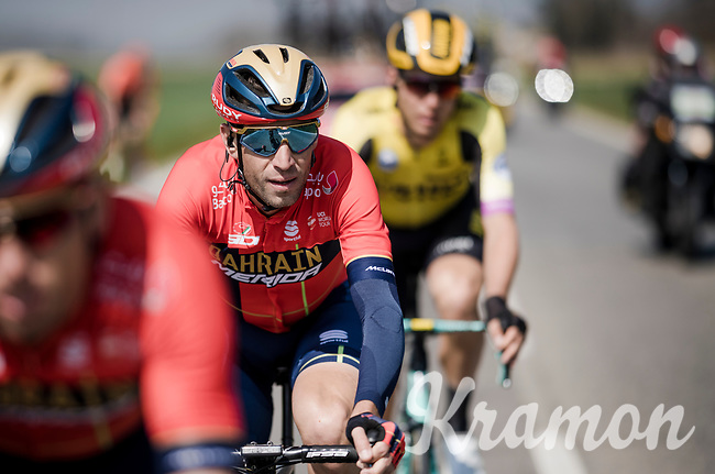defending MSR champion Vincenzo NIBALI (ITA/Bahrain-Merida)<br /> <br /> 110th Milano-Sanremo 2019 (ITA)<br /> One day race from Milano to Sanremo (291km)<br /> <br /> ©kramon