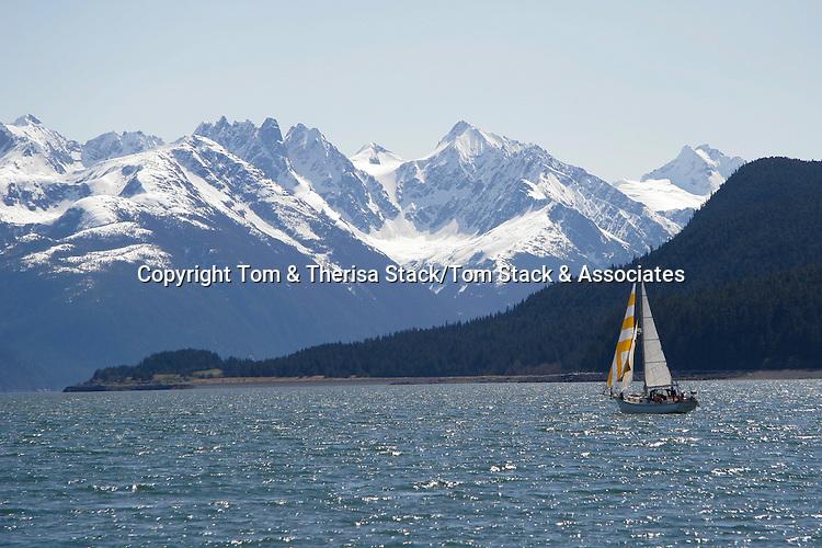 Sailboat near Haines, Alaska