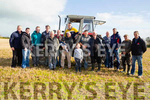 The Ballyheigue Ploughing Committee with Pat Falvey owner of the land gathered on the Rectory Field,Ballyheigue to announce details of their ploughing competition which will be on Sunday 1st November 2015.
