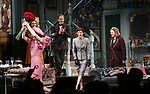 Tedra Millan, Kate Burton, Kevin Kline, Cobie Smulders and Kristine Nielsen during Broadway Opening Night  curtain call for 'Present Laughter' at the St. James Theatre on April 5, 2017 in New York City.