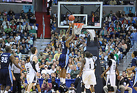 The Monarchs' Frank Hassell gets an easy bucket. Butler defeated Old Dominion 60-58 during the NCAA tournament at the Verizon Center in Washington, D.C. on Thursday, March 17, 2011. Alan P. Santos/DC Sports Box