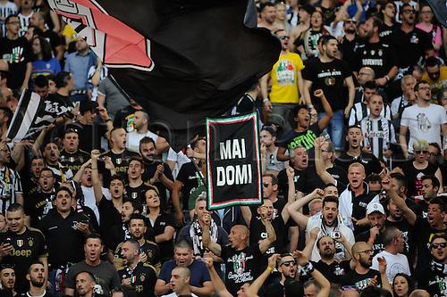21.05.2016. Stadio Olimpico, Rome, Italy. Coppa Italia Final. AC Milan versus Juventus. Fans of Juventus