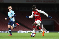 Bukayo Saka of Arsenal in action during Arsenal Youth vs Blackpool Youth, FA Youth Cup Football at the Emirates Stadium on 16th April 2018