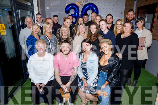 Jay Dalligan from Causeway and Sydney celebrating his 30th birthday in Benners Hotel on Friday night. <br /> L to r: Phylis Whyte, Jay Dalligan, Saoirse Hannon and Susie Whyte