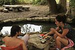 Israel, Menashe Heights, a picnic at Ein Nili