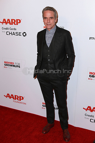 BEVERLY HILLS, CA - FEBRUARY 2: Jeremy Irons at the AARP 14th Annual Movies For Grownups Awards Gala at the Beverly Wilshire Hotel in Beverly Hills, CA on February 2, 2015. Credit: David Edwards/DailyCeleb/MediaPunch