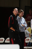 15 November 2007: Stanford Cardinal Michelle Harrison during Stanford's 97-62 loss against the USA Women's National Basketball Team at Maples Pavilion in Stanford, CA.