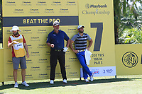 Adrian Otaegui (ESP) and Darren Clarke (NIR) stand in the shade on the 7th during Round 3 of the Maybank Championship at the Saujana Golf and Country Club in Kuala Lumpur on Saturday 3rd February 2018.<br /> Picture:  Thos Caffrey / www.golffile.ie<br /> <br /> All photo usage must carry mandatory copyright credit (© Golffile | Thos Caffrey)