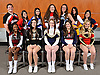 The 2016 Newsday All-Long Island varsity cheerleading team poses for a group picture at company headquarters on Wednesday, Mar. 30, 2016. FRONT ROW, FROM LEFT: Kiara Brown - Whitman, Allyson Ottomano - Wantagh, Shannon Diesel - Bethpage, Danielle Klein - MacArthur and Lexi Zanghi - Sachem East. BACK ROW, FROM LEFT: William Gorman - Mount Sinai, Ashley Canale - Smithtown East, Christina Mallano - Hauppauge, Grace Anner - Freeport, Claire Johannsen - Rocky Point, Ashley Ferrara - Comsewogue and Diana Rybacki - Smithtown West.