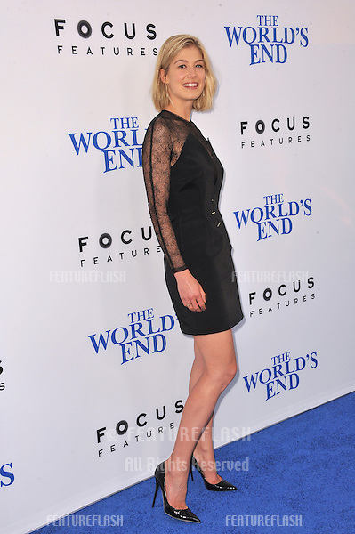 Rosamund Pike at the Los Angeles premiere of her movie &quot;The World's End&quot; at the Cinerama Dome, Hollywood.<br /> August 21, 2013  Los Angeles, CA<br /> Picture: Paul Smith / Featureflash