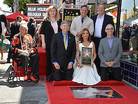 LOS ANGELES, CA. August 11, 2016: Della Reese &amp; Roma Downey &amp; Mark Burnett &amp; Jeff Probst &amp; Rich Warren &amp; Mitch O'Farrell &amp; Fariba Kalantari at Hollywood Walk of Fame Star ceremony for actress Roma Downey. <br /> Picture: Paul Smith / Featureflash