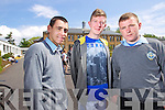 Students from CBS, The Green, who sat the Leaving Cert on Wednesday morning, were l-r::  Luke O'Connor (Manor, Tralee) Dylan Flynn (Churchill) and Wayne O'Brien (Manor, Tralee).