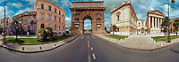 France Montpellier Arc de Triomphe, Panorama CGI Backgrounds, ,Beautiful Background