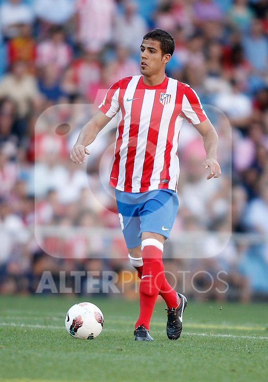 Atletico de Madrid's Alvaro Dominguez during La Liga Match. September 18, 2011. (ALTERPHOTOS/Alvaro Hernandez)